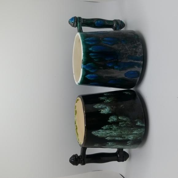 Vintage Midcentury Mug, Handmade pottery, Folk ceramics Set Of 2